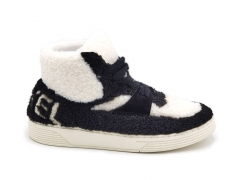 Chanel Shearling Hi-Top Sneakers Black/White (натур. мех)
