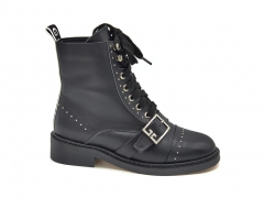 Ботинки Givenchy Leather Boots Black (натур. мех)