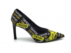 Туфли-лодочки Tom Ford Logo T Screw Pumps Black/Yellow
