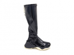 Fendi FFluid Glossy Thigh-High Sneakers Black/White