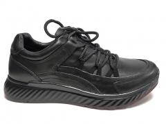 Ecco Zipflex Black Leather