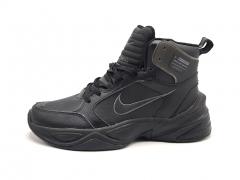 Nike M2k Tekno Therma High Black Leather