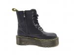 Dr. Martens Black Leather Platform Boots