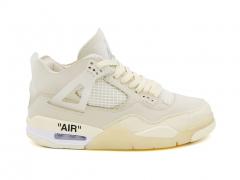 Air Jordan 4 Retro x Off-White Sail