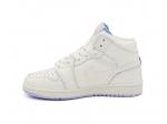Air Jordan 1 Retro Mid White/Lilac Sole