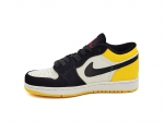 Air Jordan 1 Retro Low Yellow Toe Black