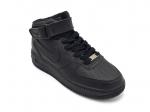 Nike Air Force 1 Mid Black (натур.мех)