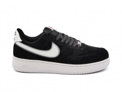 Nike Air Force 1 Low Suede Black/White