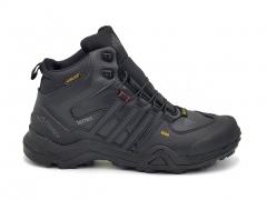 Adidas Terrex GTX 425 Mid Black Leather (с мехом)