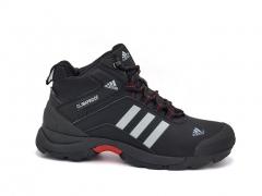 Adidas Climaproof Mid Black/White/Red (натур. мех)