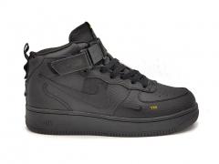 Nike Air Force 1 Mid '07 LV8 Black (с мехом)