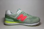 New Balance 574 Green/Orange