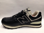 New Balance 574 Black/Leather/Natur