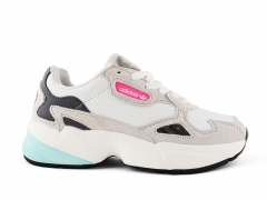 Adidas Falcon White/Beige/Pink Leather