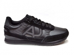 Armani Jeans Sneakers All Black Leather