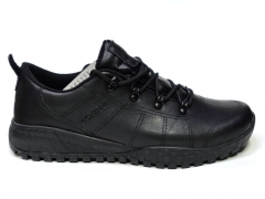 Columbia Leather Shoe Black