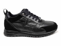 Ferazzi Sneakers Run Leather/Suede Black FRZ009