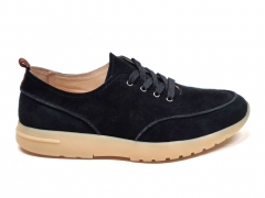 Loro Piana Freetime Walk Suede Black