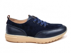 Loro Piana Freetime Walk Leather/Suede Navy