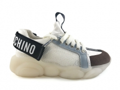 Moschino Teddy Shoes White/Black/Brown