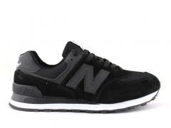 New Balance 574 Black/White/Mesh