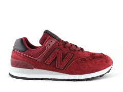 New Balance 574 Burgundy/Black