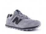 New Balance 574 Solid Grey Suede/Black
