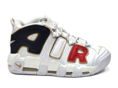 Nike Air More Uptempo White/Navy/Red