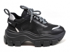 Prada Block Sneakers Black/Silver
