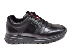 Prada Sneakers Leather All Black
