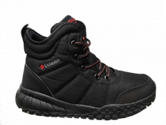 Columbia Waterproof High Black (с мехом)