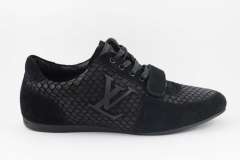 Louis Vuitton Sneaker Black Leather/Suede
