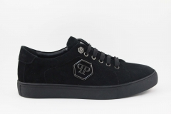 Philipp Plein Lo-Top Sneakers Black Suede
