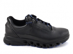 Ecco Multi-Vent Black/Blue Leather