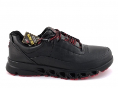 Ecco Multi-Vent Black/Red Leather