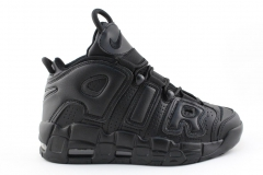 Nike Air More Uptempo Black Leather