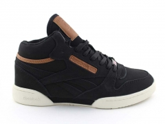 Reebok Classic Exertion Mid Matte Black/Brown (натур. мех)