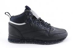 Reebok Classic Mid Navy Leather (с мехом)