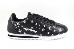 Nike Cortez x Supreme x LV Black/White