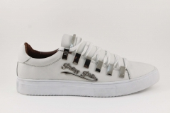 Philipp Plein Lo-Top Sneakers All White