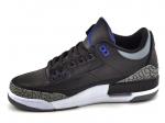 Air Jordan 3 Retro Black/Sport Blue-Wolf Grey