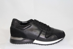Louis Vuitton Run Away Sneaker Black Leather
