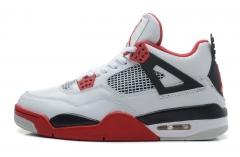 Air Jordan Retro 4 White/Red/Black