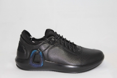 Ecco Intrinsic 3 Black Leather/Blue
