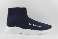 Balenciaga Speed Stretch-knit Mid Sneakers Dark Blue