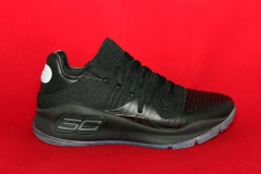 Under Armour Curry 4 Black Ice Leather Low