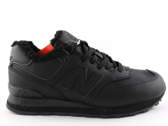 New Balance 574 D19 All Black (с мехом)