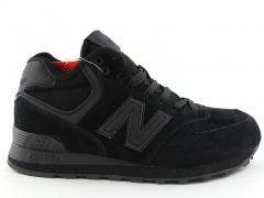 New Balance 574 Mid D19 Black (с мехом)