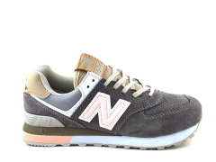 New Balance 574 Suede Grey/Pink