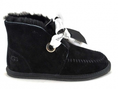 UGG Kallen Bow Boot Black (натур. мех)
